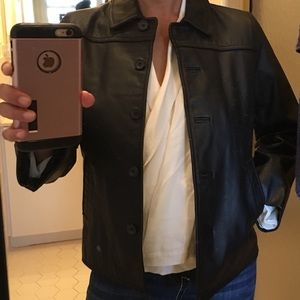 VINTAGE J. CREW Leather Jacket Sz S